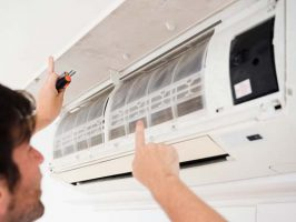 Inspection of AC unit to increase energy efficiency